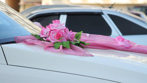 Wedding Decorative Ornaments Car stock footage