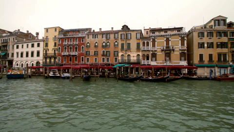 Ride On A Boat Through Venice Canale Grande stock footage