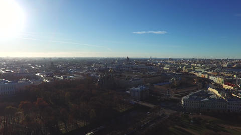 Calm Sunny Day In St.-Petersburg City, Russia stock footage