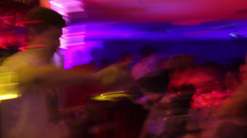 Blurry view of night club's bar - drugs, alcohol, disease, vision Footage
