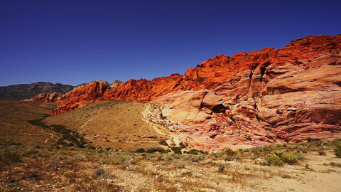 Wonderful colors of Red Rock Canyon - LAS VEGAS, NEVADA/USA Footage