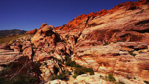 Colorful Rocky Landscape In Nevada Desert - LAS VEGAS, NEVADA/USA stock footage