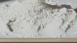 Pour A Heap Of Flour Slow Motion stock footage