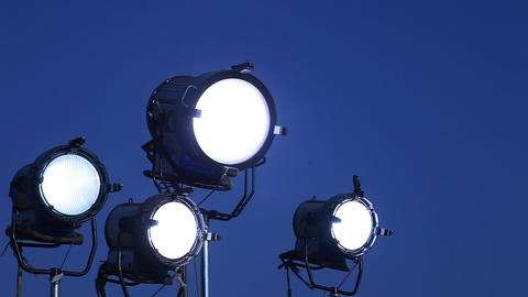 Day Lights In Shooting stock footage