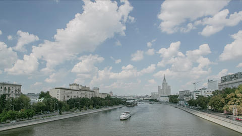 Moscow River Timelapse stock footage