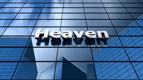 Heaven Building, Humour, Time-lapse, Blue Sky, Glass Reflection stock footage