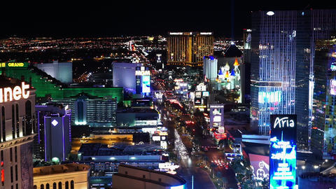 The Colors Of Las Vegas By Night - LAS VEGAS, NEVADA/USA stock footage