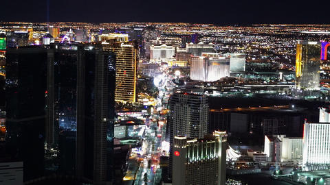 Las Vegas Strip From Above Great Aerial Shot - LAS VEGAS, NEVADA/USA stock footage
