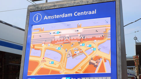 Map of Amsterdam Central station City of Amsterdam Footage