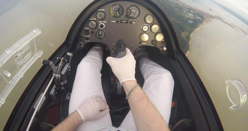 Dashboard Of The Flying Autogyro Footage
