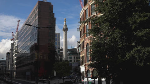 London Monument On A Sunny Day - LONDON, ENGLAND stock footage