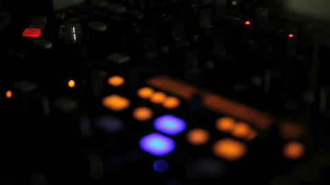 Motion Clip In And Out Of Focus On A DJ Deck stock footage