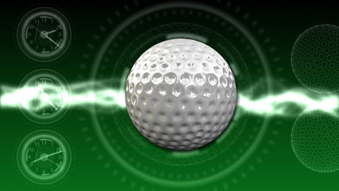 Golf Ball Background 04 (HD) CG動画素材