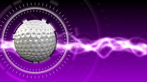 Golf Ball Background 08 (HD) CG動画素材