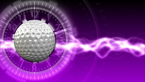 Golf Ball Background 13 (HD) CG動画素材
