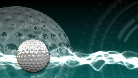 Golf Ball Background 16 (HD) CG動画素材