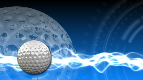 Golf Ball Background 17 (HD) CG動画素材