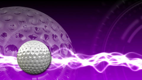 Golf Ball Background 19 (HD) CG動画素材