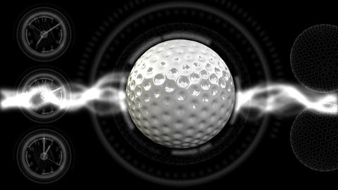 Golf Ball Background 21 (HD) CG動画素材