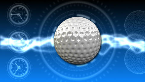 Golf Ball Background 23 (HD) CG動画素材