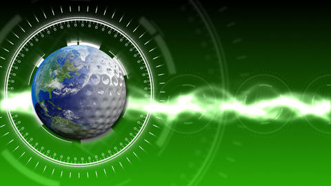 Golf Earth Background 27 (HD) CG動画素材