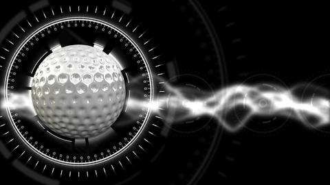 Golf Ball Background 28 (HD) CG動画素材