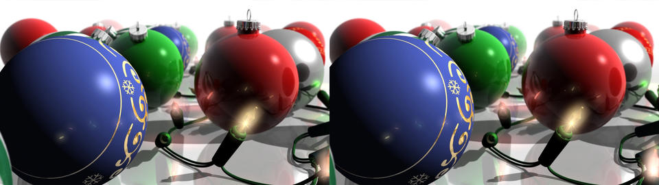Christmas Ornaments And Lights - Stereoscopic 3D stock footage