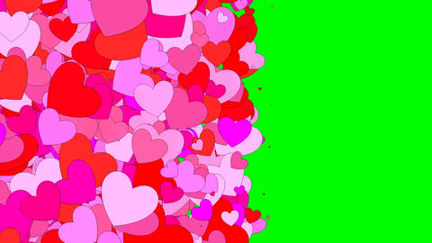 Hearts Background stock footage