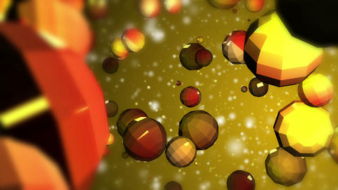 Abstract Fantasy Multi Colored Crystal Particles Evolving stock footage