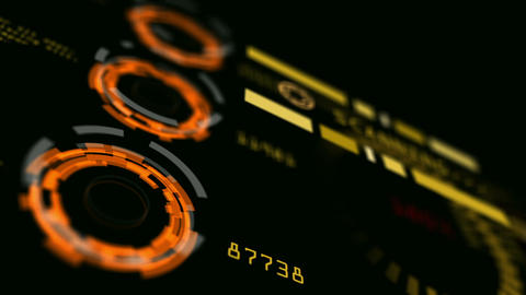 Abstract Advanced Technology Control Panel User Interface stock footage