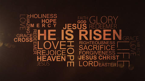 HE IS RISEN - Christian Text stock footage