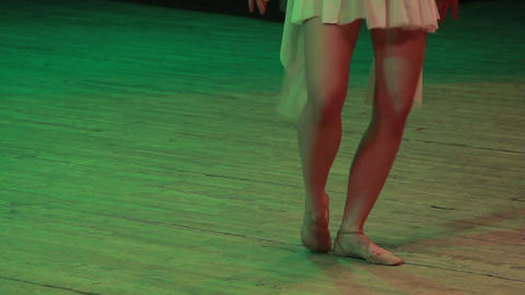 Ballerina On Stage stock footage