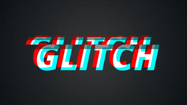 Glitch Intro 2.0 4K stock footage