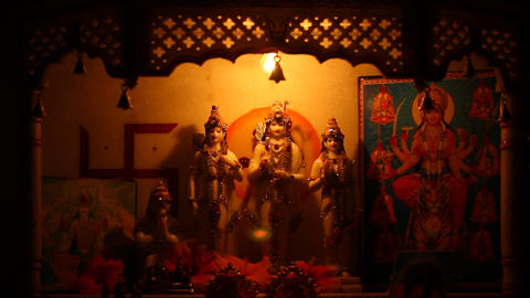 God Statue In The Temple stock footage