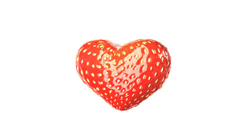 Heart Made Of Strawberry stock footage