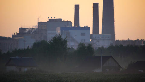 Rural And Industrial stock footage