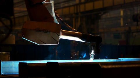 Welding Robot stock footage