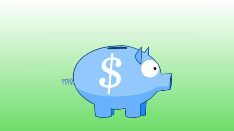 Piggy Bank - Earn Money / Save Money stock footage