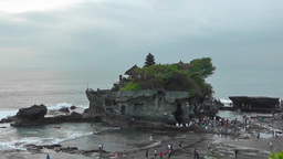 Tanah Lot Temple At Low Tide,Bali stock footage