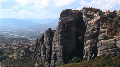 Big Mountains In Meteora stock footage