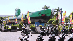 Submarine Museum, Surabaya, East Java, Indonesia stock footage