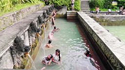 Hot Spring Air Panas Banjar,Bali Footage
