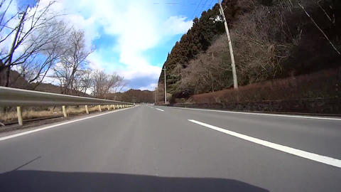 Driving View Low Angle Kyoto Japan / ローアングル車載動画 stock footage
