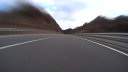 Highway Driving Low Angle View Time-lapse / ローアングル倍速車載動画 stock footage