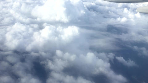 Flying Above The Clouds stock footage
