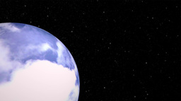 Cloudy Planet In Space stock footage