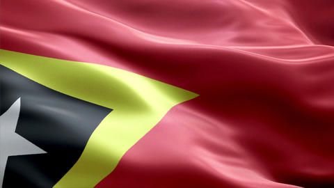 Flag East-Timor stock footage