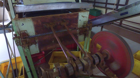 Vintage Machine Mechanism At Factory stock footage
