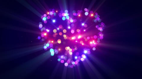 Colorful Heart Shape Disco Flashing Loopable Animation stock footage