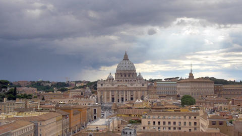 Rome, Italy - The Vatican City overview and the St. Peter's Basilica Footage